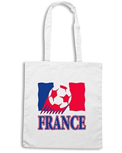T-Shirtshock - Borsa Shopping T0713 france calcio ultras Bianco