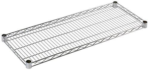 Archimède Plan pour étagère modulable, en métal, chromé, 61 x 20 x 4 cm, chromé