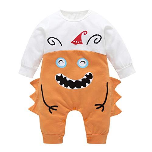 Romantic Halloween Kostüme Kinder Baby Kleidung Langarm Jungen Mädchen Karikatur Monster Gedruckt Strampler Teufel Geistkostüme Overall Baby-Strampler für Jungen Mädchen Kinder Halloween Kostüme (Teufel Kostüm Baby Mädchen)