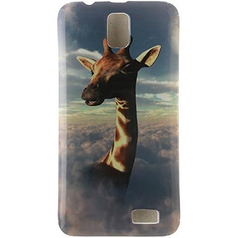 Meet de Caso / copertura / Telefono / sacchetto Per Lenovo A328 PU Pelle Case (Giraffe Corda)