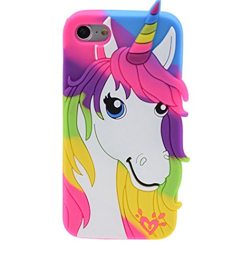 iPhone 6/6S Plus 5.5 Custodia, BENKER (Unicorno) Alta Qualità 3D Cartone Animato Morbido Silicone Gel Antiurti Copertura Telefono Caso - Color Unicorno Color Unicorno