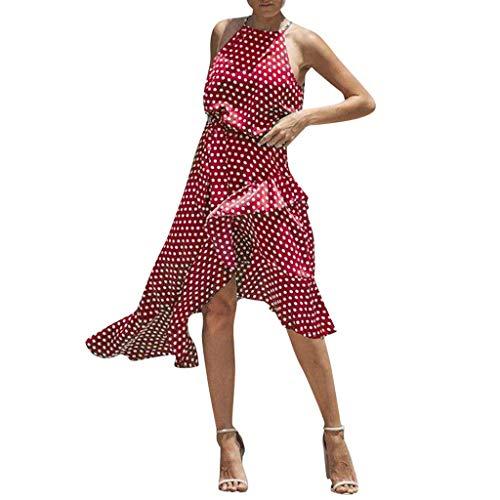 Hochwertige und einzigartige Damenbekleidung, Damen Sommer Strand ärmelloses Kleid Damen Finden Freizeitkleidung WUDUBE-Fachgeschäft