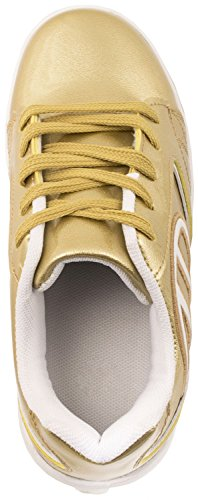 Elara Damen Herren Kinder Rollschuhe Sportschuhe Schuhe mit Rollen Laufschuhe Runners Sneakers Gold Skater