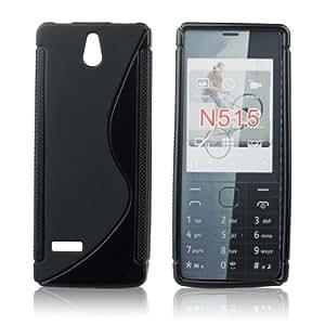 handy-point Gummihülle für Nokia 515, N515, Schwarz, Hülle, Silikonhülle, Gummi, Silikon, Schale, Schutzhülle, Schutz, Handyschale, Handyhülle