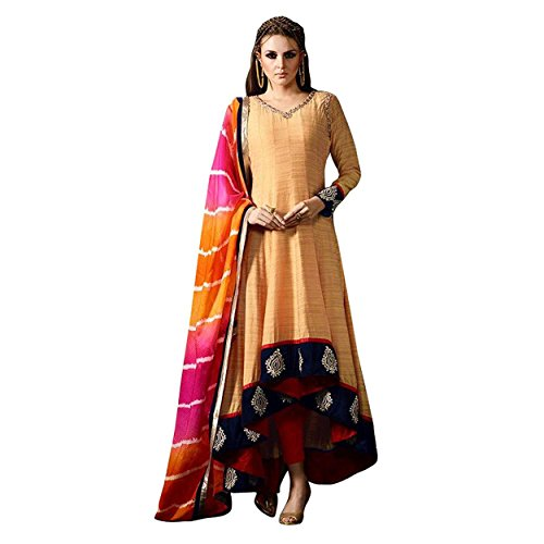Ethnic Empire Yello COLOR LATEST INDIAN DESIGNER ANARKALI SALWAR KAMEEZ DRESS for...