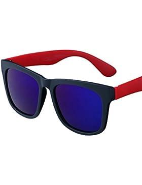 GOUQIN Gafas De Sol Dama Moda Gafas De Sol Polarizadas Retro De Bastidor Grande Gafas De Película De Color