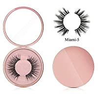 JoyFan Magnetic Eyeliner Magnetic Eyelashes Kit Waterproof Long Lasting Eyeliner False Eyelashes Magnetic Eyeliner For Magnetic False Eyelashes (Miami-5)