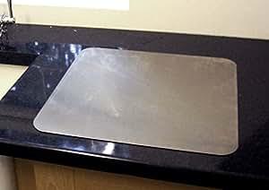 Protezione per piano di lavoro, in acciaio INOX (con piedini ...
