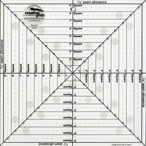 Creative Grids 9-1/2in x 9-1/2in Square It Up and Fussy Cut Ruler cgrsq9 by Creative Grids