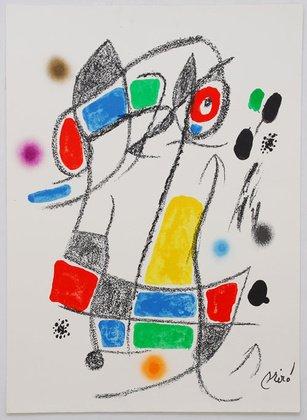 Joan Miro grafica litografia Mara Villas 1-drucksigniert limitata