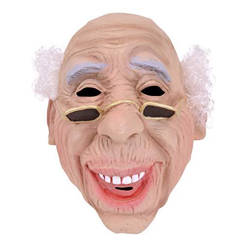Männer Kostüm Opa - Bristol Novelty BM235 Alter Mann Maske, Mehrfarbig, Einheitsgröße