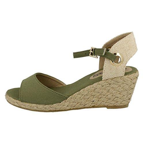 Spot On Bout Ouvert Femme Khaki (Green)