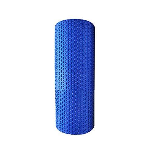 Denshine Yogarolle Pilates Yoga Rolle Foam Roller Fitness Gymnastik Blau