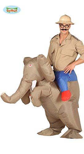 aufblasbares Elefanten Aufsitz Kostüm Tierkostüm für Erwachsene, Größe:L