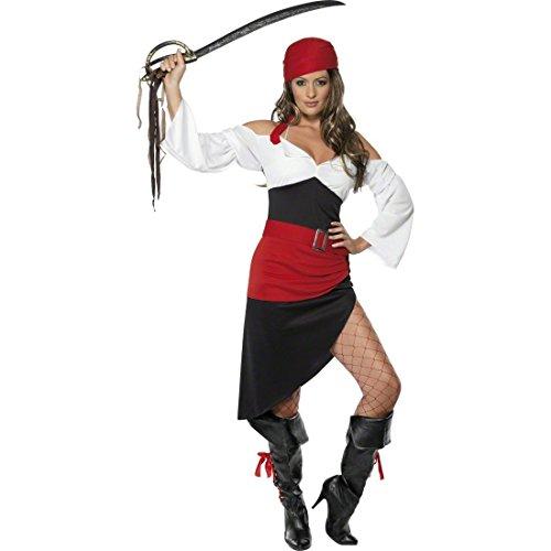 NET TOYS Déguisement de Pirate Femme Costume de Pirate Tenue de Pirate Femme Costume Femme Corsaire Flibustière Costume de Pirate S 38/40