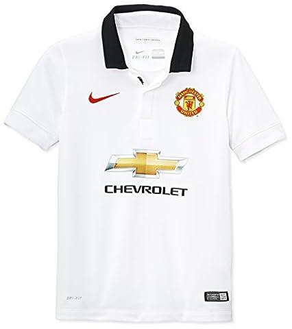 Nike - Manu Away Stadium - T-Shirt à manches courtes - Garçon - Football White/black/diablo Red - 158-170 cm, 13-15 ans, XL