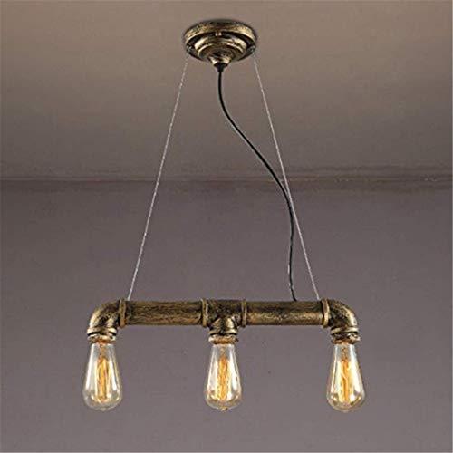 Lichtvintage Industrial Light Pendant Light Chandelier Ceiling Lamp Pipe Suspension 3 Lights Antique Bronze -