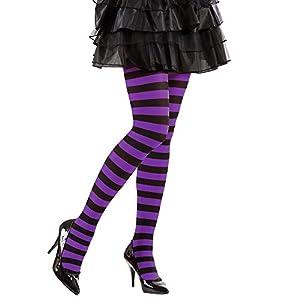 WIDMANN Striped Pantyhose medias rayas, morado/negro