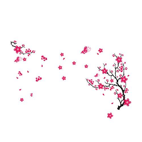 Abnehmbare Wand angebracht dekorative große Pflaumenblüte Blume Baum Wand Aufkleber Kunst Wandbild PVC Aufkleber Home Room Decor Schlafzimmer Küche Badezimmer Wohnzimmer dekorativ (Mehrfarbig)