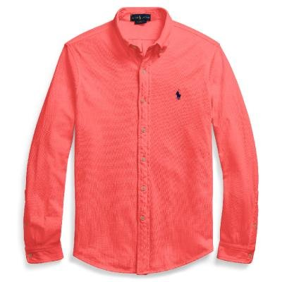 Ralph lauren polo camicia uomo in piquet di cotone 710-704247 (xxl, 004 spring red)
