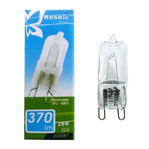 kosnic-g9-lote-de-10-bombillas-halogenas-regulables-28-w-40-w-370-lumenes-calificacion-energetica-c