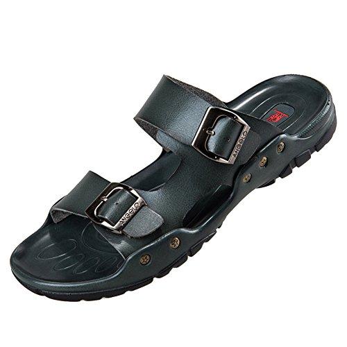 Sandali da uomo sportivi sandali scarpe da spiaggia sandali da passeggio scarpe da sandalo verde scuro 44 eu