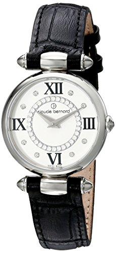 Claude Bernard Women's 20501 3 APN1 Dress Code Analog Display Swiss Quartz Black Watch