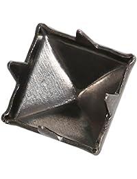TRIXES 100 x Tachuelas piramidales estética punk/rock para zapatos y bolsos de cuero para diseño y artículos de moda