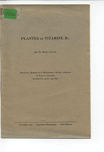 Plantes et Vitamine B1.