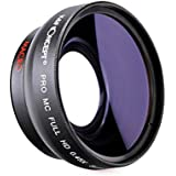 K&F Objectif Macro et Grand-Angle, 0.45X 52mm Macro Lens Détachable Avec High Definition Conversion Lens Blue Coating pour Nikon D3200 D3100 D5100 D5200