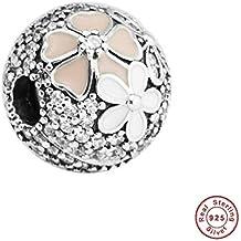 b1de235506 MOCCI 2017 collezione primavera autentica argento sterling 925 Poetic bloom  Clear CZ Clip Ftis per bracciali