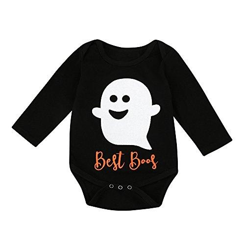 Kostüm Kleiner Baby Teufel - Cuteelf Halloween Kostüm Baby Mädchen Halloween Kleiner Teufel Langarm Overall Overall Kleidung Kleinkinder Halloween Strampler Kleidung Baumwolle bequemen Pyjama