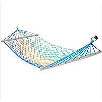 Campeggio esterno individuale Hammock rete selvatica Tempo libero Mesh Sticks Amaca Camera singola nylon rete Hammock - Singola Corda Di Cotone
