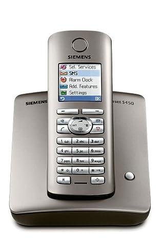 Siemens Gigaset S450, Schnurloses DECT-Komfort-Telefon, platin