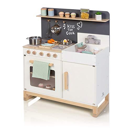 MUSTERKIND Spielküche Linum, weiß/Natur aus Holz - Kinderküche