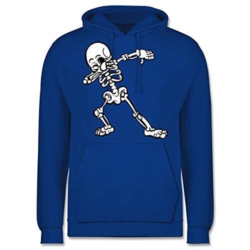 Shirtracer Halloween - Dabbing Skelett - XL - Royalblau - JH001 - Herren ()