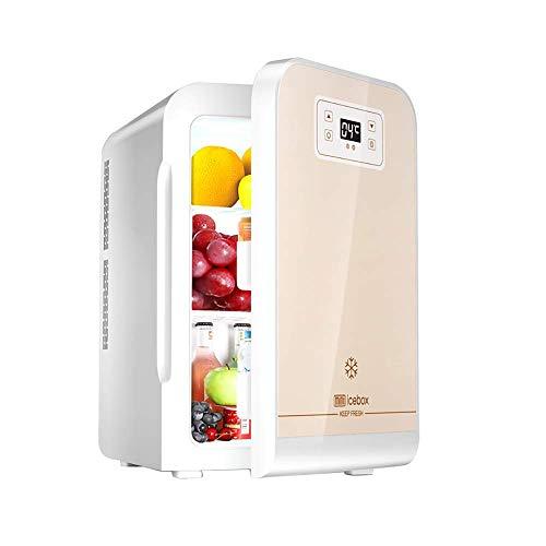 Kievy 22L Mini Kompakt persönlich Kühlschrank mit Digitalanzeige Auto Kühlschrank Extrem leise und geräuscharm Elektrisch Kühler und wärmer AC/DC tragbar Auto Mini-Kühlschränke Gefrierschrank - Persönliche Alkohol