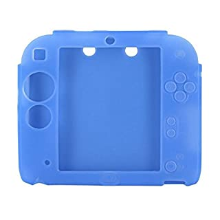 Awakingdemi Game Case Cover,Protective Soft Silicone Rubber Gel Skin Case Cover Skin for Nintendo 2DS (Blue)