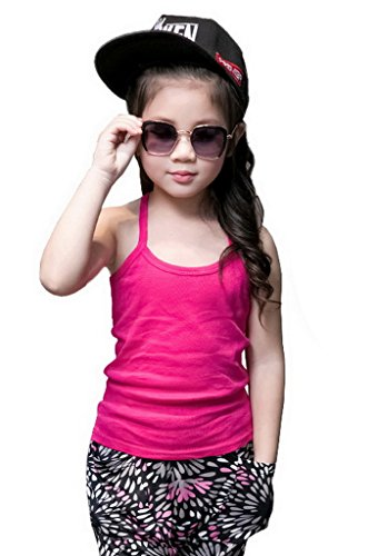 YiyiLai Unisex Children Solid Summer Scoop Neck Strap Tank Top Shirt