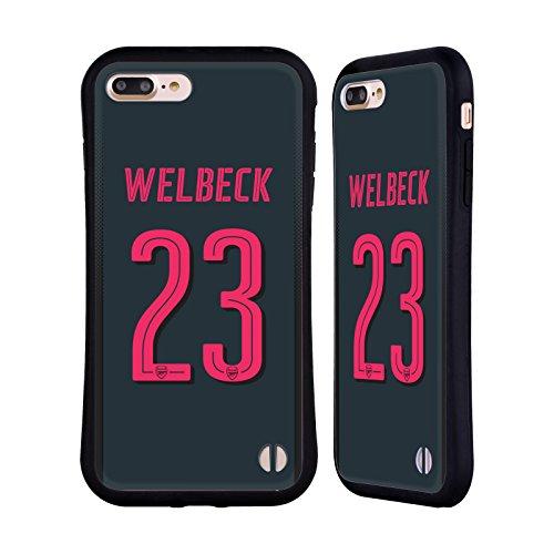 Ufficiale Arsenal FC Alex Iwobi 2017/18 Giocatori Kit Third Gruppo 1 Case Ibrida per Apple iPhone 6 Plus / 6s Plus Danny Welbeck