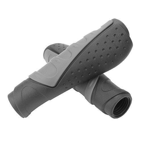 PRUNUS Fahrradgriffe aus Gummi, Ergonomisch, Antirutsch, für MTB (Schwarz (130mm+130mm))