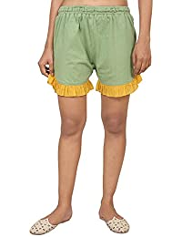 9teenAGAIN Women's Hosiery Shorts (Green)