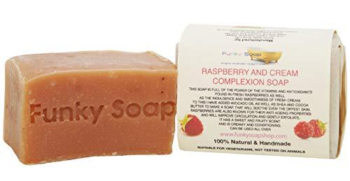 1 piece Raspberry and Cream Soap 100% Naturel Artisanal aprox.120g