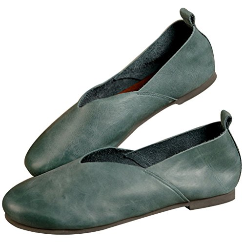 Vogstyle Donna Scarpe Comfort Pompe Basse Stile-1 Verde