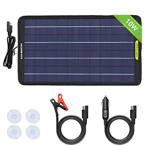ECO-WORTHY 12 voltios 10 vatios panel solar portátil