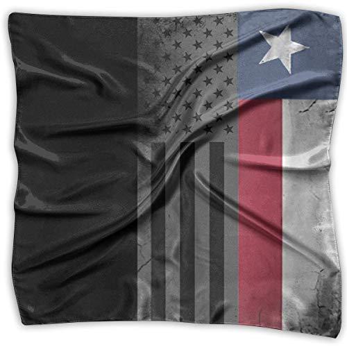 Spf 15 Geschenk (Damen Kopftuch, Satin, Motiv Flagge der Vereinigten Staaten, Texas, groß)