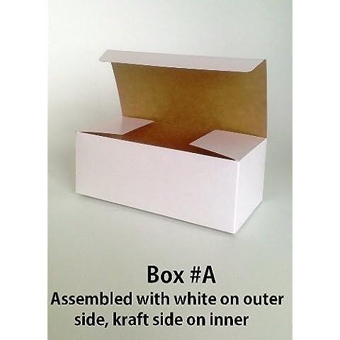 Confezione da 3 Scatole Regalo Piccolo (codice #A) Cartone Piatto Comprimere Self-Assembly contenitore di regalo adatto per cioccolatini, Gioielli, Piccoli Regali - Scatola Di Cartone Crafts