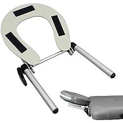 Vivezen ® Support têtière, appuie tête en aluminium pour table de massage - Norme CE