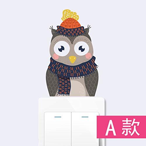 Nette Schalter Aufkleber Einfache Wohnzimmer Hauptdekorationen Selbstklebende Papier Kühlschrank Kostenlose Aufkleber 3 Stücke A ()