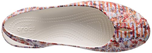 Crocs Olivia Ii Striped Floral, Ballerines - Femme Multicolore (Multi/Raspberry)